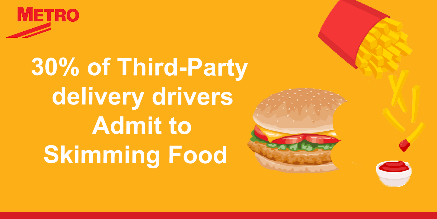 30% of third party drivers admit to stealing food